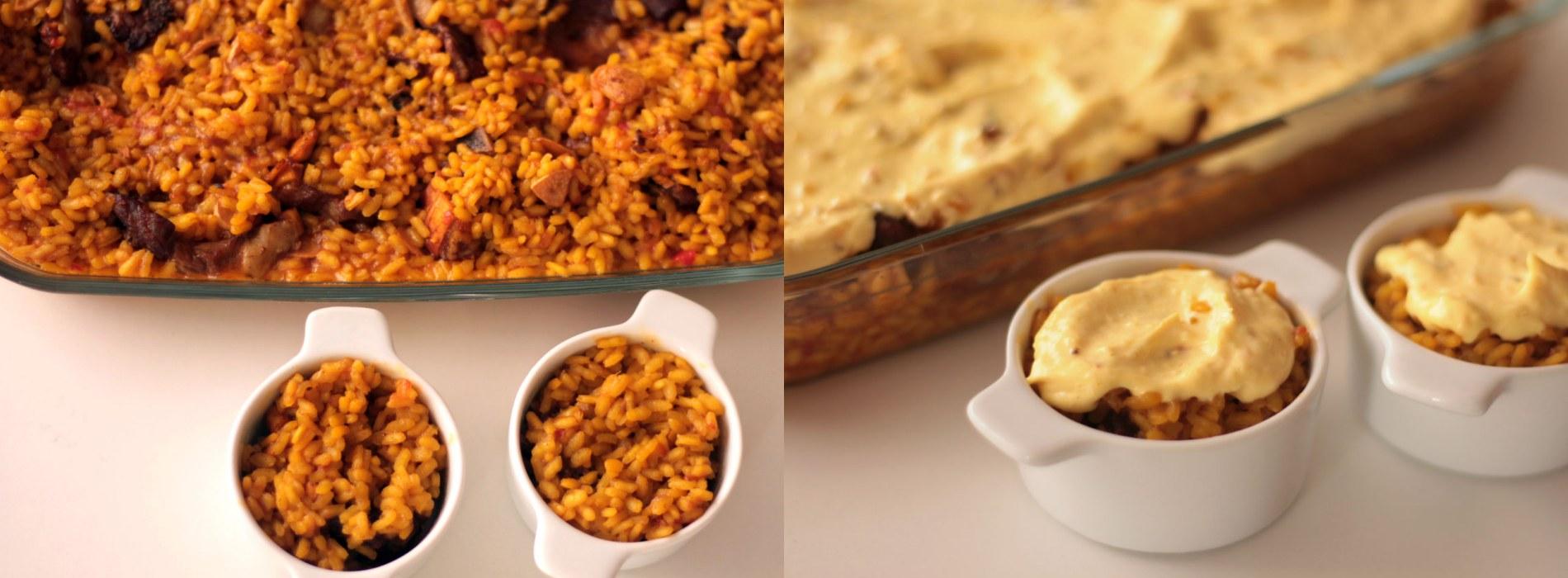 como hacer arroz collares cordero costrado alioli curry