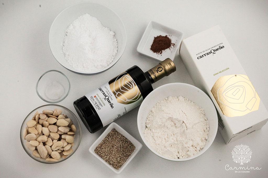 ingredientes mantecados de aceite de oliva virgen extra
