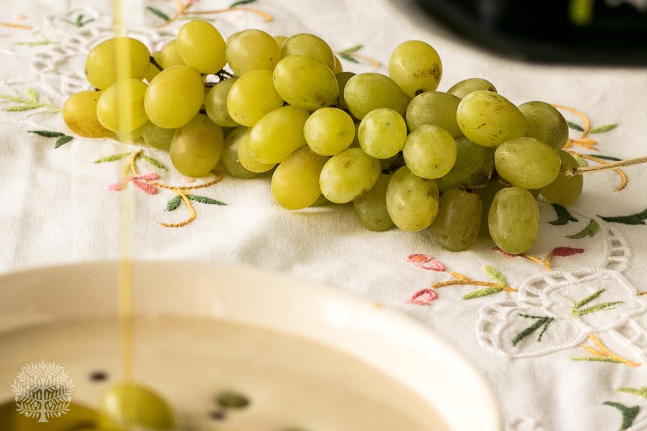 Ajoblanco malagueño con uvas