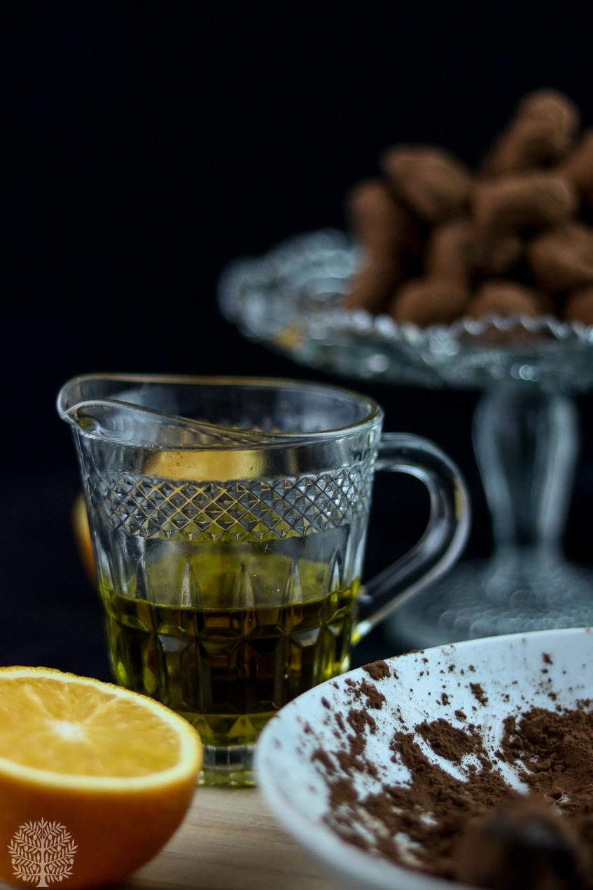 Trufas de naranja y aceite de oliva virgen extra picual